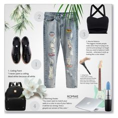 Romwe 2/10 by smajicelma on Polyvore featuring polyvore fashion style Dyson MAC Cosmetics clothing
