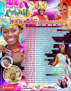 2015 Saint Maarten Carnival Scheduale