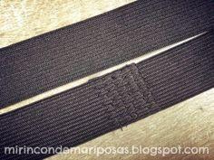 mi rincón de mariposas: Cómo coser una cintura-elástico (tutorial)