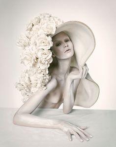 Fashion Photography - flower hat fashion editorial // Ph. Nastya Sten by Jack Waterlot