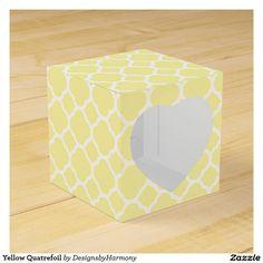 Yellow Quatrefoil Favor Box