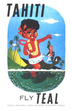 TEAL Tahiti ad 1962