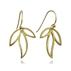 Three Leaf Amazon Earrings now featured on Fab.