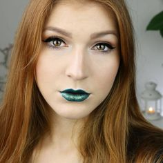 "@sophia_bu is wearing our metal shock lipstick ""venom""  - a must for #stpatricksday, isn't it?  #liptasticessence #whatspoppinessence"