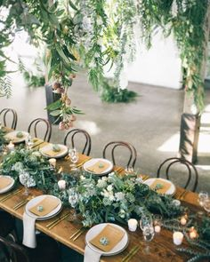 Styling love: this gorgeous reception filled with native foliage & florals raw timber gold cutlery & bentwood chairs - just incred! Team: Photography @hikariphotography Event Design Styling @thestyleco Venue @stonesoftheyarravalley