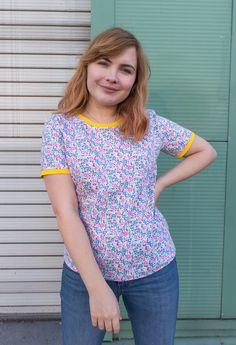 Handmade Tabitha Tilly and the Buttons T-Shirt - Paige Joanna All Fashion, Fashion 2020, Fashion Trends, Tilly And The Buttons, Sequin Outfit, Color Crafts, Festival Fashion, Shirt Dress, T Shirt
