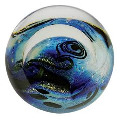 506F Glass Eye Studio Celestial Blue Planet - #1 GLASS EYE STUDIO Approved Retail Dealer Crystal River Gems @ glasseyestudio.com