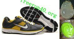 Mens Nike LunarElite+ Gray Yellow White Shoes