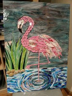 Mosaic flamingo - https://m.facebook.com/JoolzMosaicartAndMore