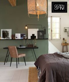 nl The post Slaapkamer liefde.nl appeared first on Slaapkamer ideeën. Home Bedroom, Home Living Room, Living Room Decor, Bedroom Decor, Green Bedroom Walls, Green Rooms, Room Interior, Interior Design Living Room, Small Space Interior Design