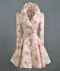Stylish Sweet Foral winter- Trench Coats   Trench Coats