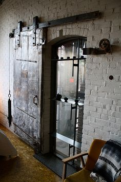 Love old warehouse / industrial doors