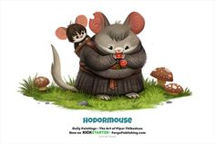 Daily 1329. Hodormouse by Cryptid-Creations.deviantart.com on @DeviantArt