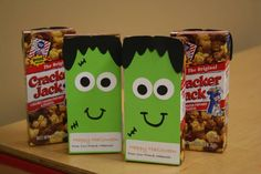 Cracker Jack Frankensteins by Meghan Scholl - Cards and Paper Crafts at Splitcoaststampers