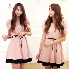 #pink #dress #onepiece #fashion #style #tiewaist #yesstyle #pinkoctober #nbcf - @yesstyle- #webstagram