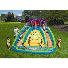 Inflatable Backyard Water Slide Kids Blowup Bouncer Lawn Outside Splash Pool #LittleTikes