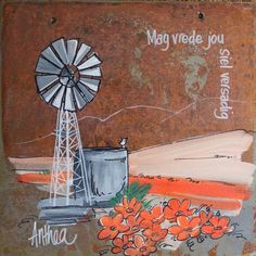 Anthea Pallette Signs, Small Garden Features, Windmill Art, Afrikaanse Quotes, Painting Quotes, Wedding Quotes, Art Deco Design, Pebble Art, Gods Love