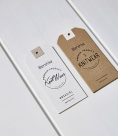 Full labelling design process for the AW15·16 Bershka hang tags.