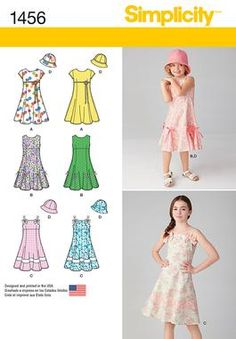 Simplicity Creative Group - Child's and Girls' Dress with Bodice Variations and Hat - would A work as a anna toddler dress?