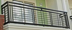 nice and simplistic iron balcony. Each balcony railing is made with nothing less than high quality material. nice and simplistic iron balcony. Each balcony railing is made with nothing less than high quality material. Steel Railing Design, Modern Railing, Iron Stair Railing, Wrought Iron Stairs, Stair Handrail, Balcony Grill Design, Balcony Railing Design, Window Grill Design, Staircase Design