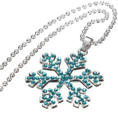 Crystal Frozen Snowflake Silver Long Necklace ($3.92) ❤ liked on Polyvore featuring jewelry, necklaces, long silver necklace, chain necklaces, silver necklace, pendants & necklaces and long pendant necklace