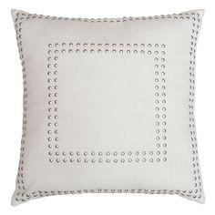 Square Gaga Double Nailhead Pillow