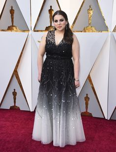 noneBeanie Feldstein of ''Lady Bird'' arrives at the Oscars on Sunday, March 4, 2018, at the Dolby Theatre in Los Angeles. (Jordan Strauss/Invision/AP)