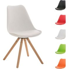 Design Retro Stuhl PEGLEG mit Holzgestell natura, Materialmix aus Kunststoff, Kunstleder und Holz, bis zu 5 Farben wählbar