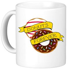 OH, SUSANNAH Donuts Forever 11oz Coffee Mug Black Text Printed Both Sides Father's Day Gift Police *** Special  product just for you. See it now! : home diy kitchen