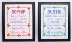 Craftdrawer Crafts: Free Baby Sampler New Baby Cross Stitch Pattern