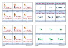 Un jeu de conjugaison pour apprendre et mémoriser la conjugaison au passé simple des verbes faire - prendre - pouvoir - devoir Cycle 3, Mindfulness, Memories, Teaching, Education, School, Life, Montessori, Frans