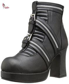 Demonia GOTHIKA-50 Blk Vegan Leather UK 5 (EU 38 ) - Chaussures demonia (*Partner-Link)