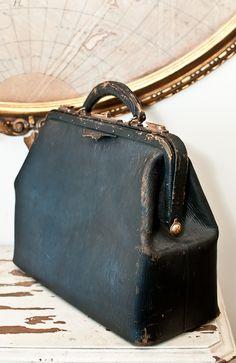 Antique Leather Doctor's Satchel