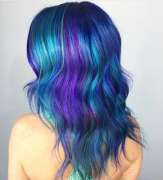 Purple Violet Red Cherry Pink Bright Hair Colour Color Coloured Colored Fire Style curls haircut lilac lavender short long mermaid blue green teal orange hippy boho ombré rainbow streaks foils Pulp Riot