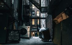 Real New York Alley by Richard Cline on Bg Design, Vampire Weekend, City Aesthetic, Alleyway, Character Aesthetic, The Villain, Abandoned Places, Photos, Pictures