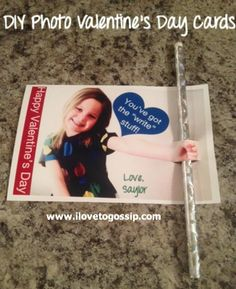 DIY Photo Valentine's Day Cards - You've got the 'write' stuff! :)