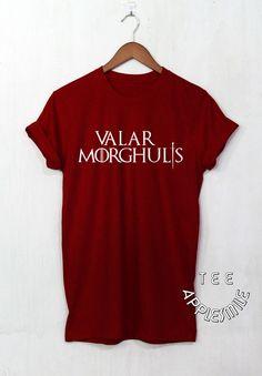 Valar Morghulis shirt Game of thrones Clothing by AppleSmileTee