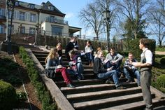 Schreibtraining mal anders: im Park der Villa Bosch, Heidelberg (März 2014)