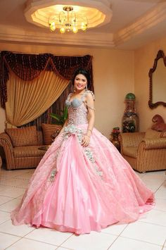 Pink Debutant gown.