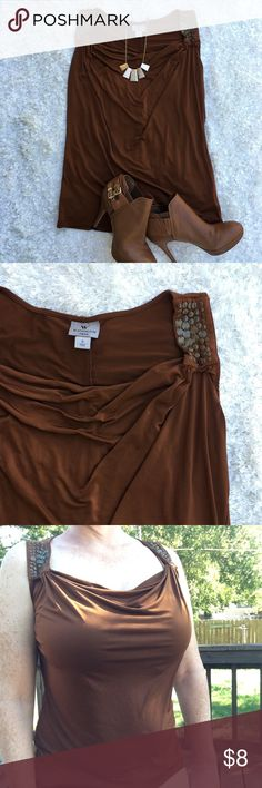 🌷Worthington blouse Worthington cinnamon brown (see color pallet) blouse. Size small 93% polyester 7% spandex. Worthington Tops Blouses