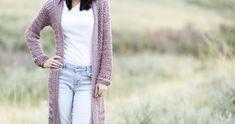 Verano Longline Cardigan Pattern – Mama In A Stitch Crochet Cardigan Pattern, Crochet Shawl, Crochet Designs, Crochet Patterns, Stitch Patterns, Crochet Ideas, Crochet Projects, Tribal Sweater, Longline Cardigan