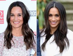 Meghan Markle bares a striking similarity to Pippa Middleton, take a look and see. Pippa Middleton Dress, Middleton Family, Duke And Duchess, Duchess Of Cambridge, Principe Harry, Kate And Harry, Kate And Meghan, Princess Meghan, Royal Style