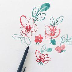 Some watercolor flor