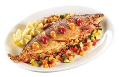 Whole Baked Whitefish Stuffed with Vegetables from #YummyMarket Rosh Hashanah Special