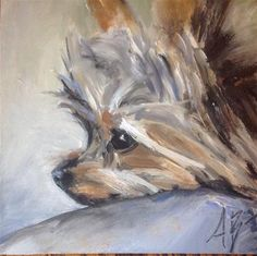 "Daily Paintworks - ""Max"" - Original Fine Art for Sale - © Annette Balesteri"