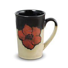Latte Mug  Painted Poppies