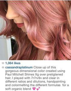Best Rose Gold Hair Color Formulations Rose Gold Formula | Hair | Pinterest | Rose Gold, Roses And Gold