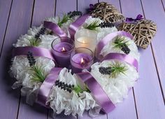 Decorating your Home with Pantone's 2014 Color of the Year: Decorative Wreath With Candles