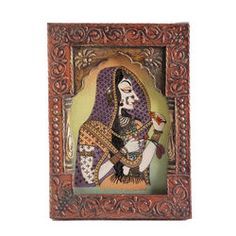 Cg Gemstone Painting Framed 1, 8 x11 - Online shopping INDIA - Buy Handicrafts,Gifts, Crafts,handmade, handcrafted, home decor, Gift items, Home Furnishing Items, Statues, Decorative, Indian Handicrafts, Paintings, Wall decor Items