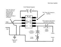 Mini Guitar Amp Schematic Photo by a_dim_wit Diy Guitar Amp, Diy Guitar Pedal, Guitar Pedals, Cool Guitar, Electronics Basics, Electronics Components, Electronics Projects, Ukulele, Diy Amplifier